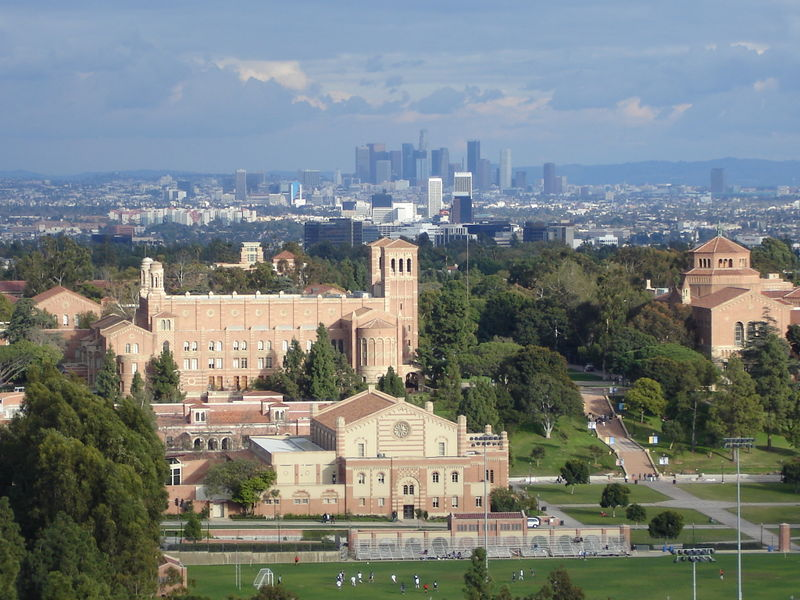 UCLA Campus and the North Athletic Field (NAF) from the Reiber Hall Dorms
